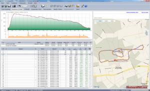 GPS-Daten eines Segelflugs